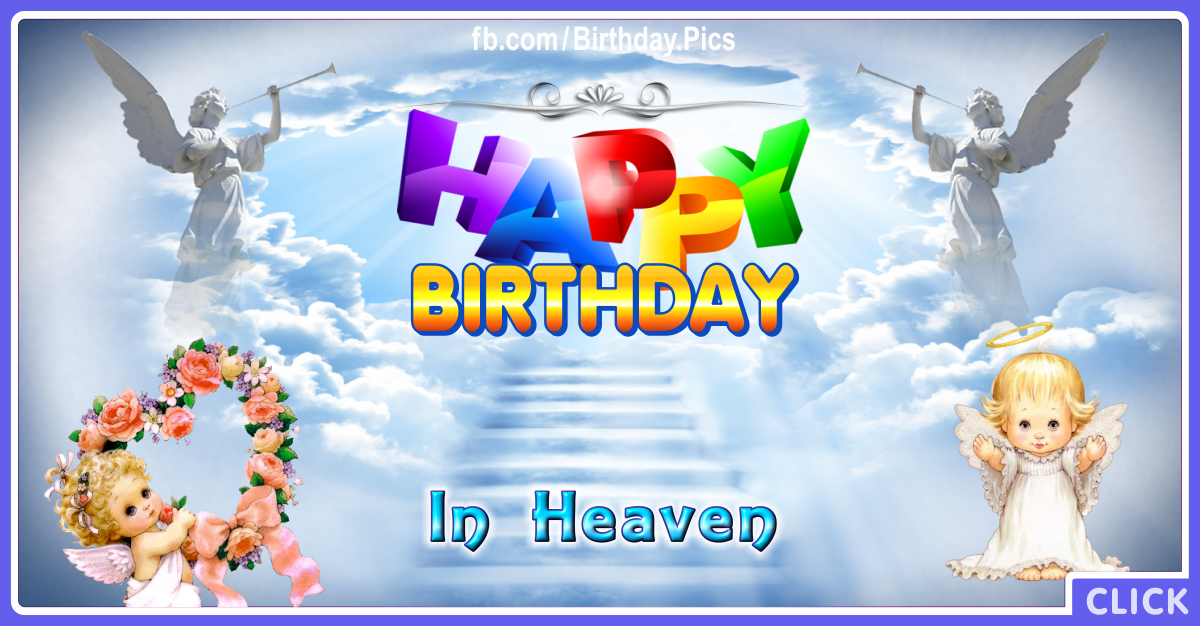 Family Happy Birthday Wife in Heaven Card for celebrating