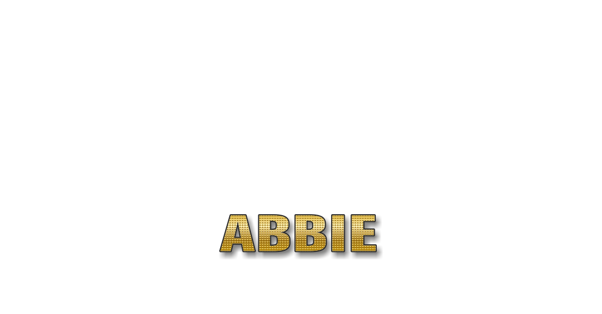 Happy Birthday Abbie Personalized Card for celebrating