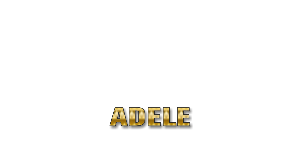 Happy Birthday Adele Personalized Card for celebrating