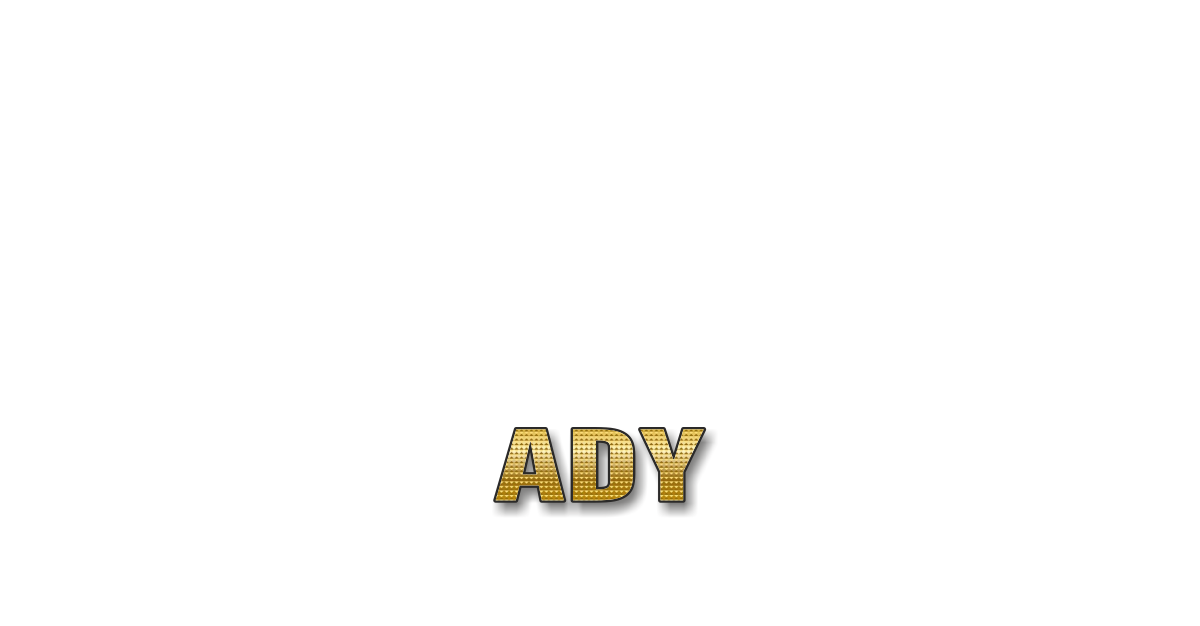 Happy Birthday Ady Personalized Card for celebrating