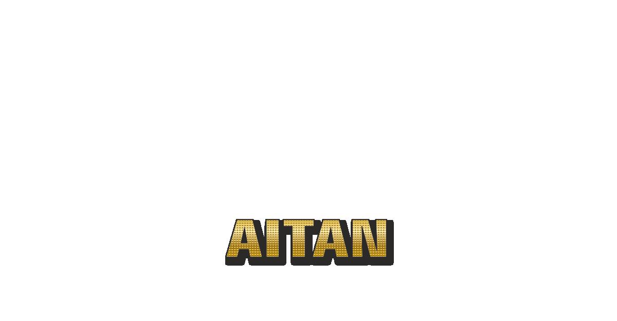 Happy Birthday Aitan Personalized Card for celebrating