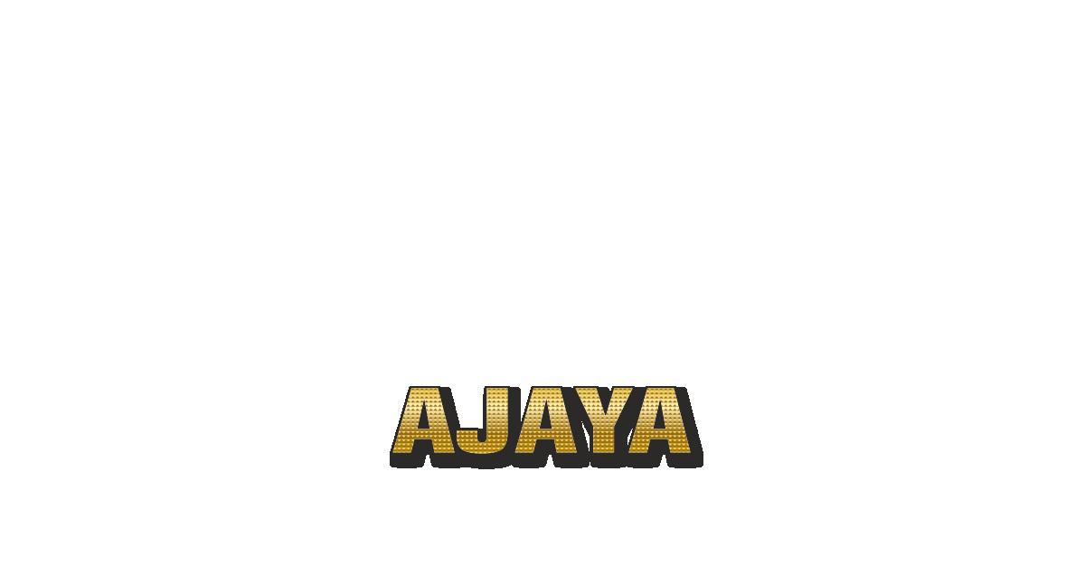 Happy Birthday Ajaya Personalized Card for celebrating