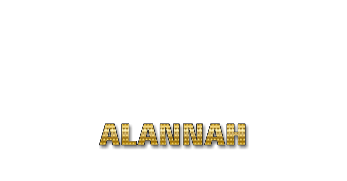 Happy Birthday Alannah Personalized Card for celebrating