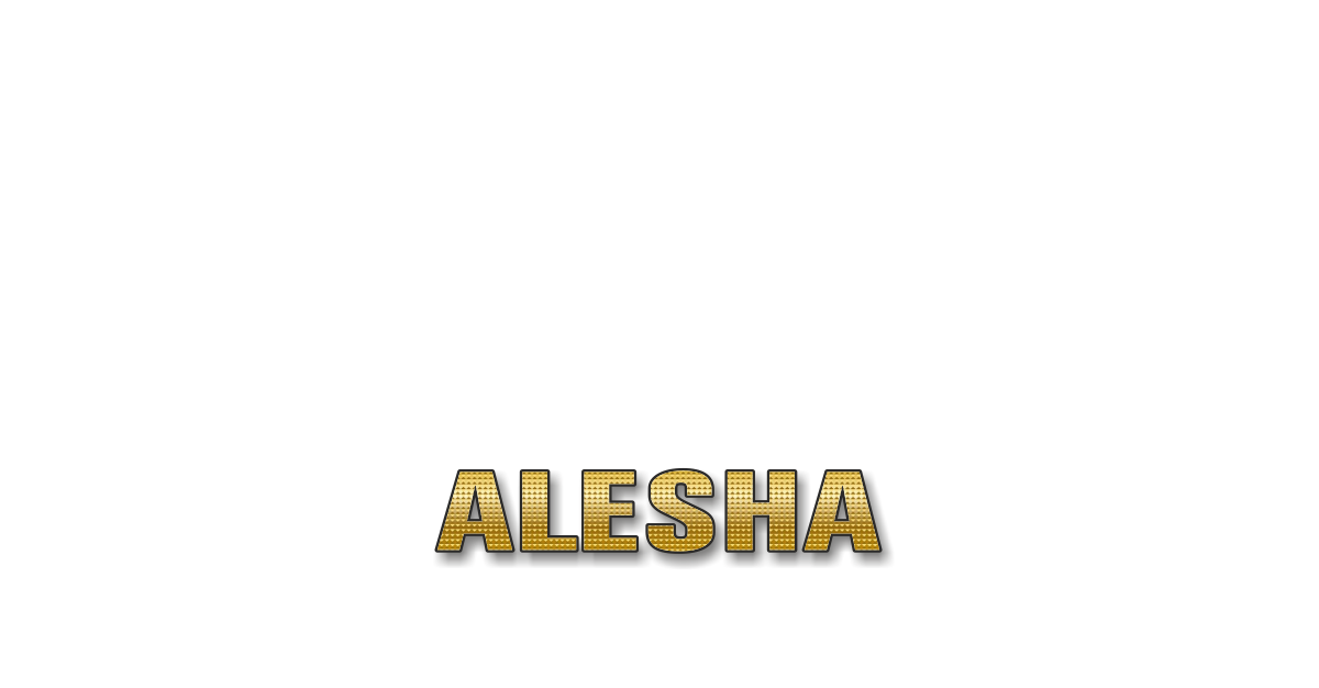 Happy Birthday Alesha Personalized Card for celebrating
