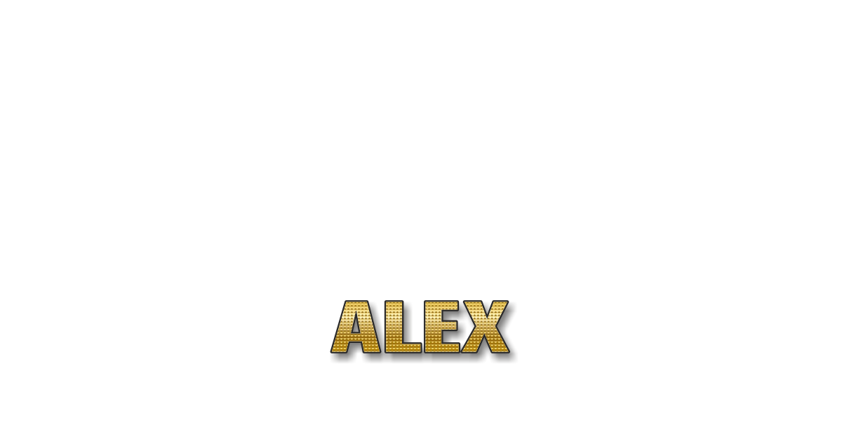 Happy Birthday Alex Personalized Card for celebrating