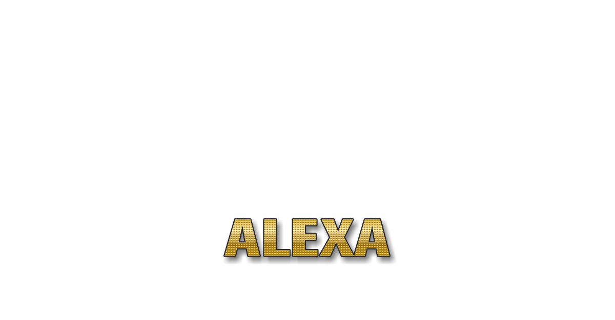 Happy Birthday Alexa Personalized Card for celebrating