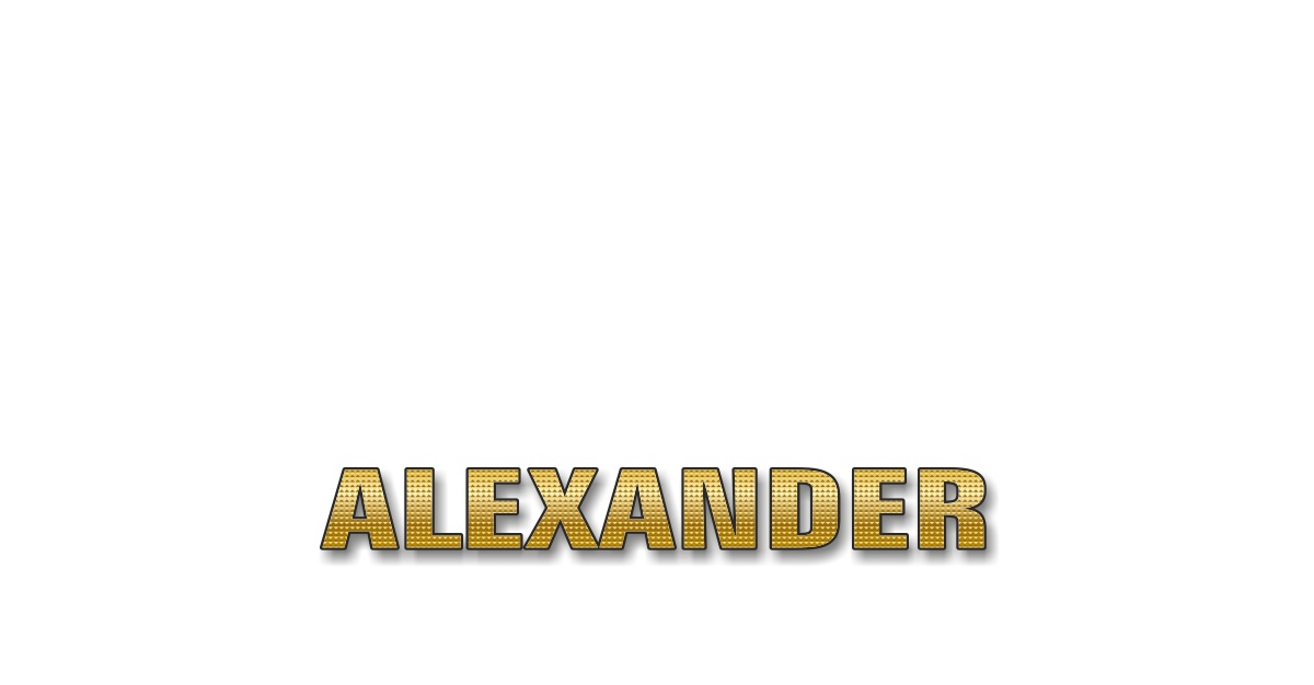 Happy Birthday Alexander Personalized Card for celebrating