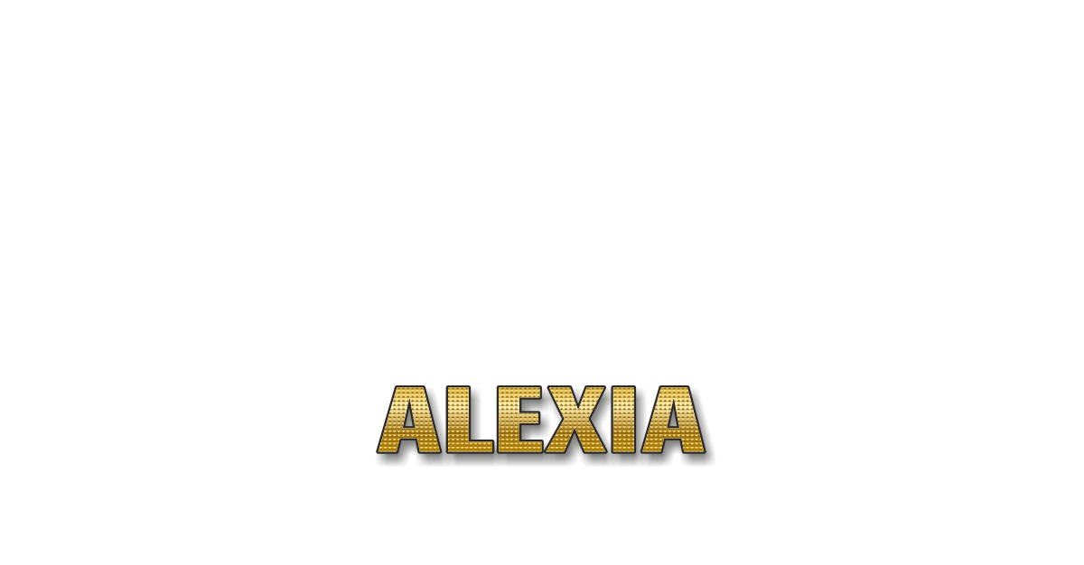 Happy Birthday Alexia Personalized Card for celebrating