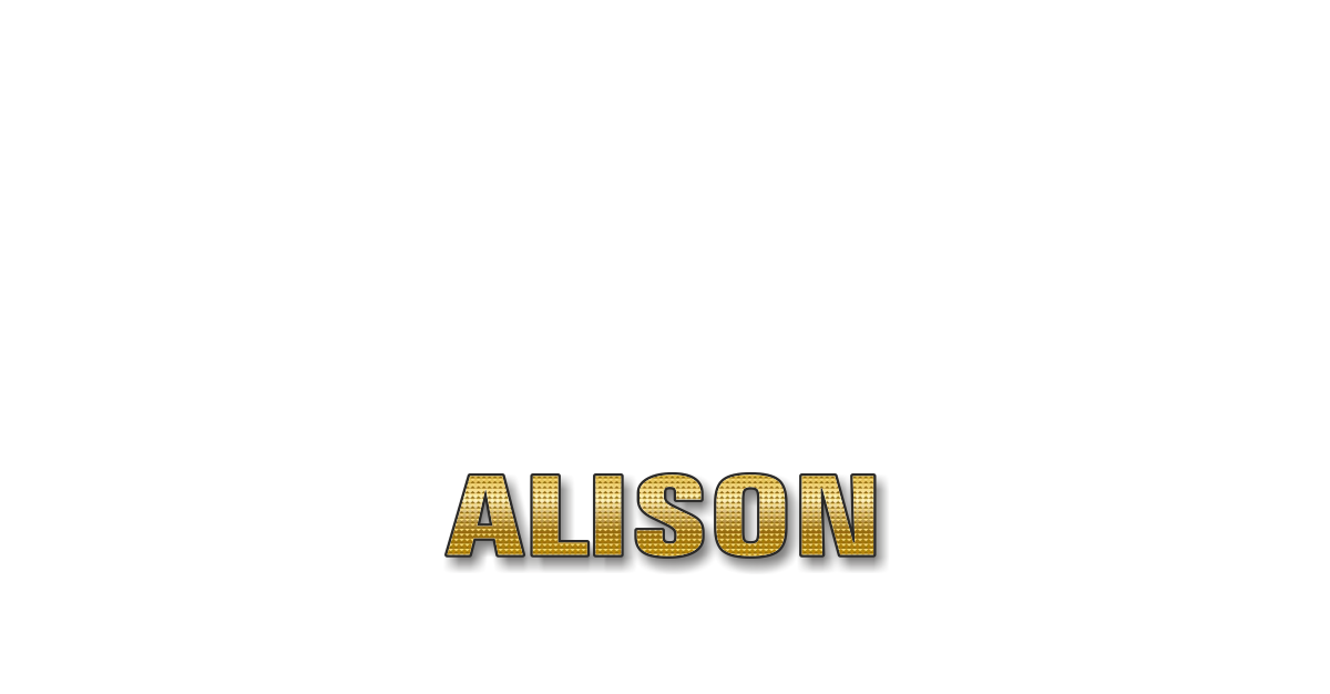 Happy Birthday Alison Personalized Card for celebrating