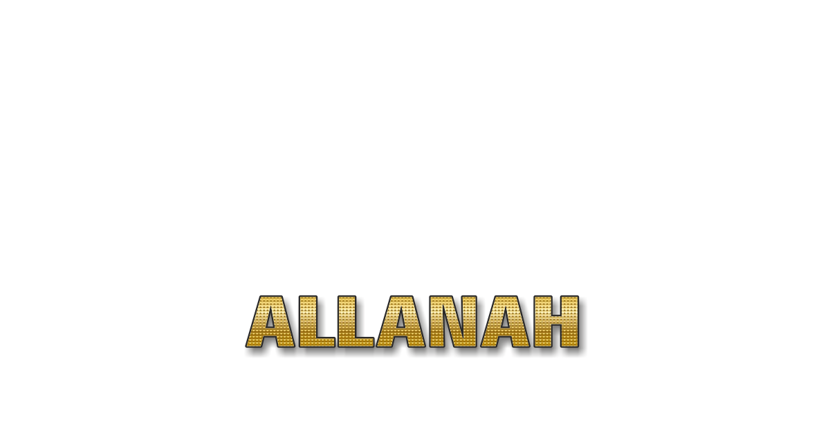 Happy Birthday Allanah Personalized Card for celebrating