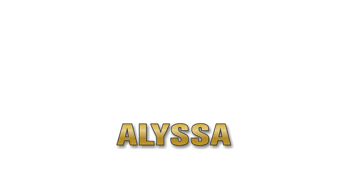 Happy Birthday Alyssa Personalized Card for celebrating