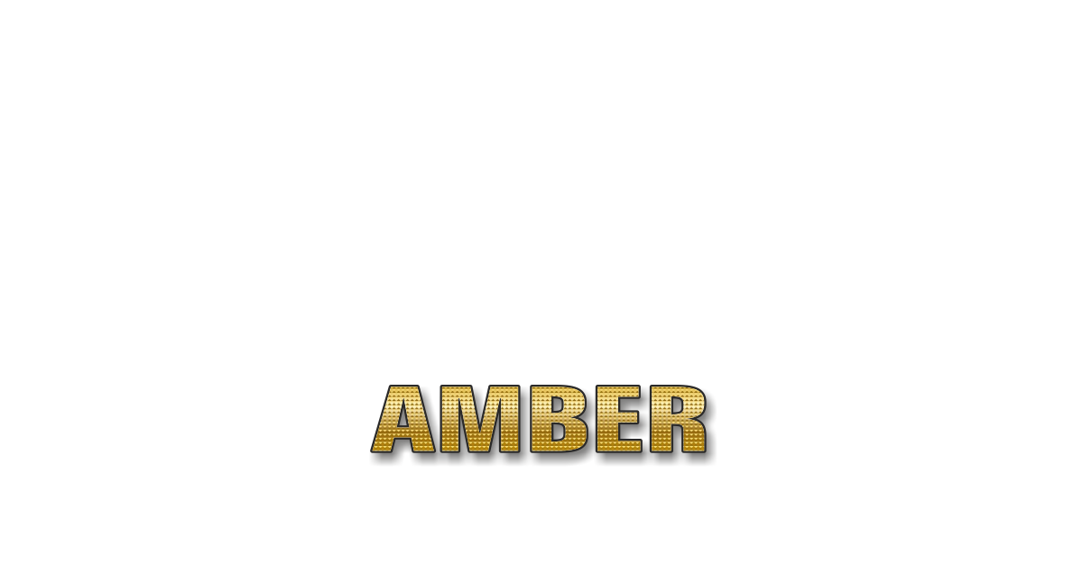 Happy Birthday Amber Personalized Card for celebrating