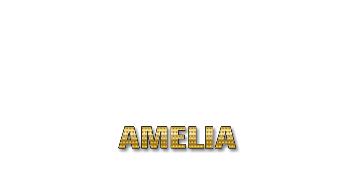 Happy Birthday Amelia Personalized Card for celebrating