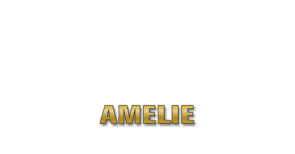 Happy Birthday Amelie Personalized Card for celebrating