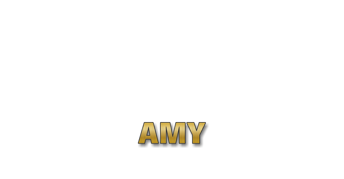 Happy Birthday Amy Personalized Card for celebrating