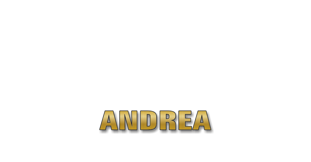 Happy Birthday Andrea Personalized Card for celebrating