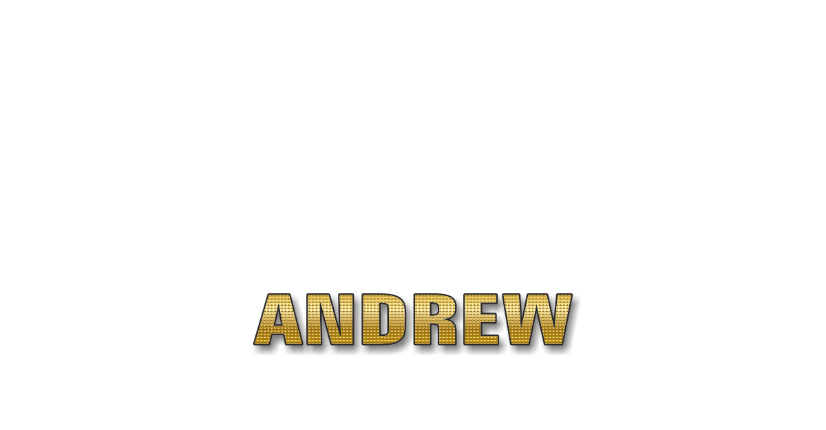 Happy Birthday Andrew Personalized Card for celebrating