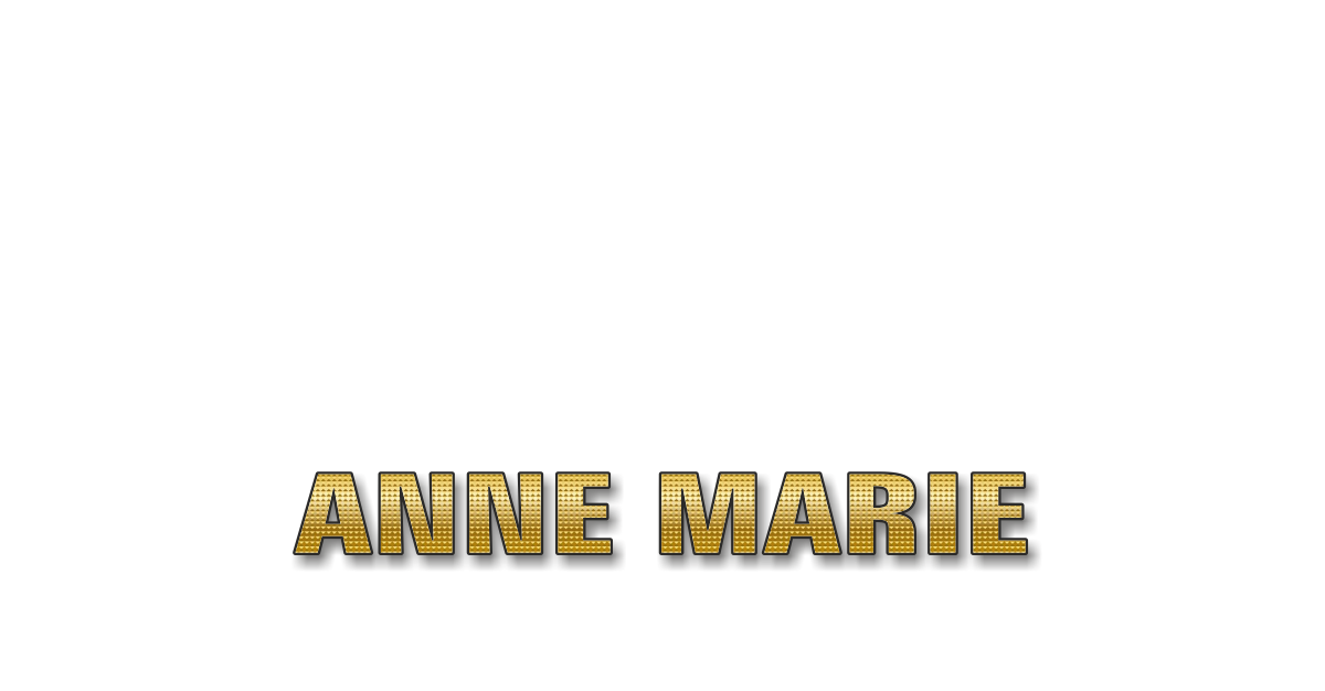 Happy Birthday Anne-Marie Personalized Card for celebrating