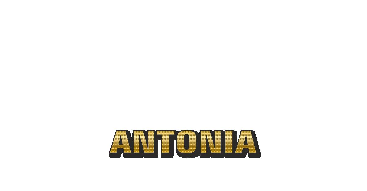 Happy Birthday Antonia Personalized Card for celebrating