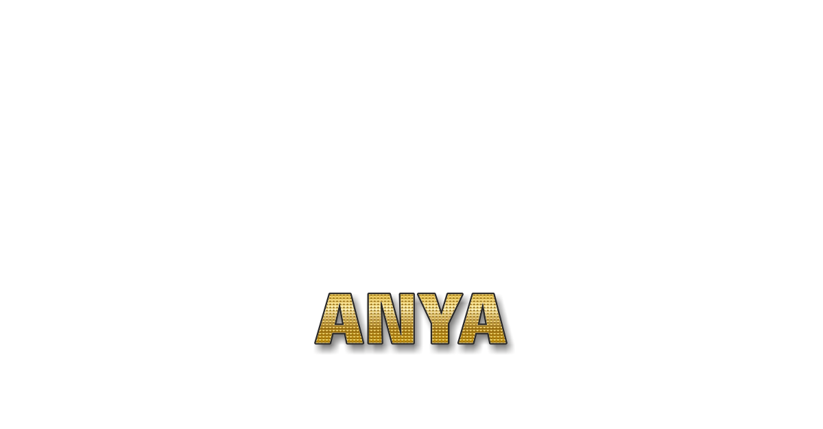 Happy Birthday Anya Personalized Card for celebrating
