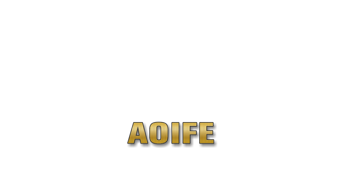 Happy Birthday Aoife Personalized Card for celebrating
