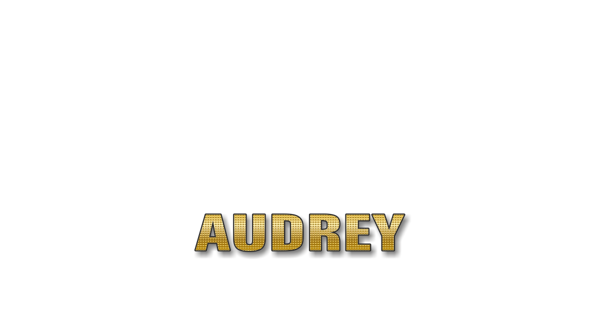 Happy Birthday Audrey Personalized Card for celebrating