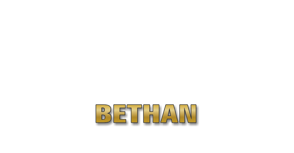 Happy Birthday Bethan Personalized Card for celebrating