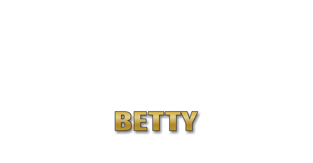 Happy Birthday Betty Personalized Card for celebrating