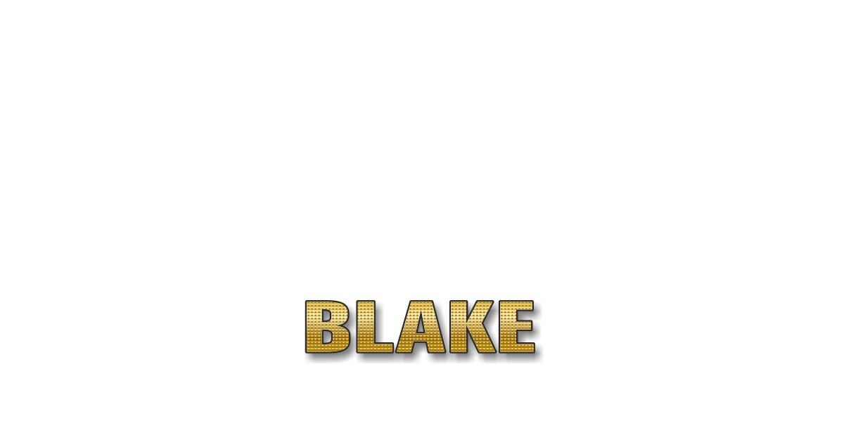 Happy Birthday Blake Personalized Card for celebrating