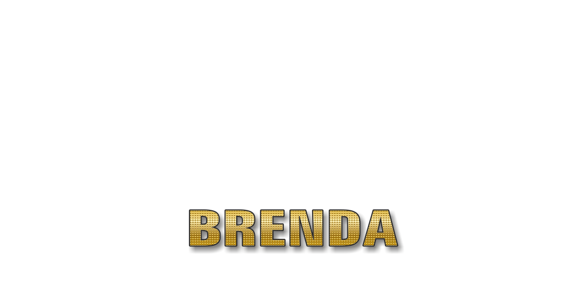 Happy Birthday Brenda Personalized Card for celebrating