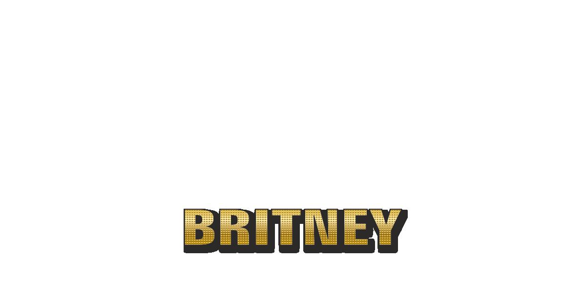 Happy Birthday Britney Personalized Card for celebrating