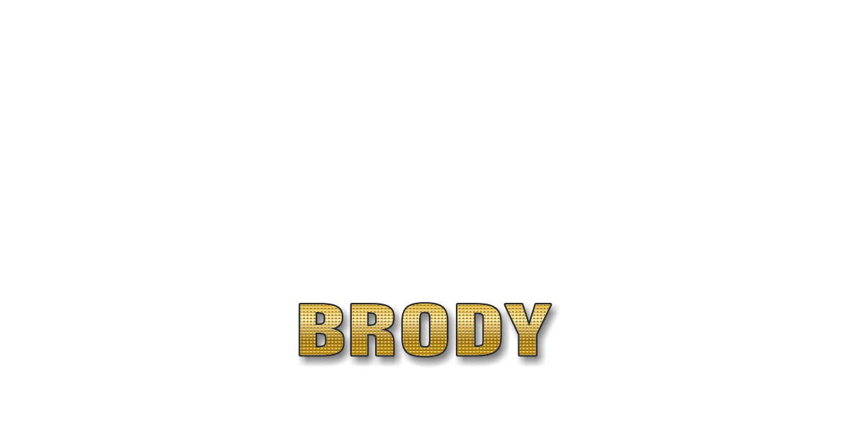 Happy Birthday Brody Personalized Card for celebrating