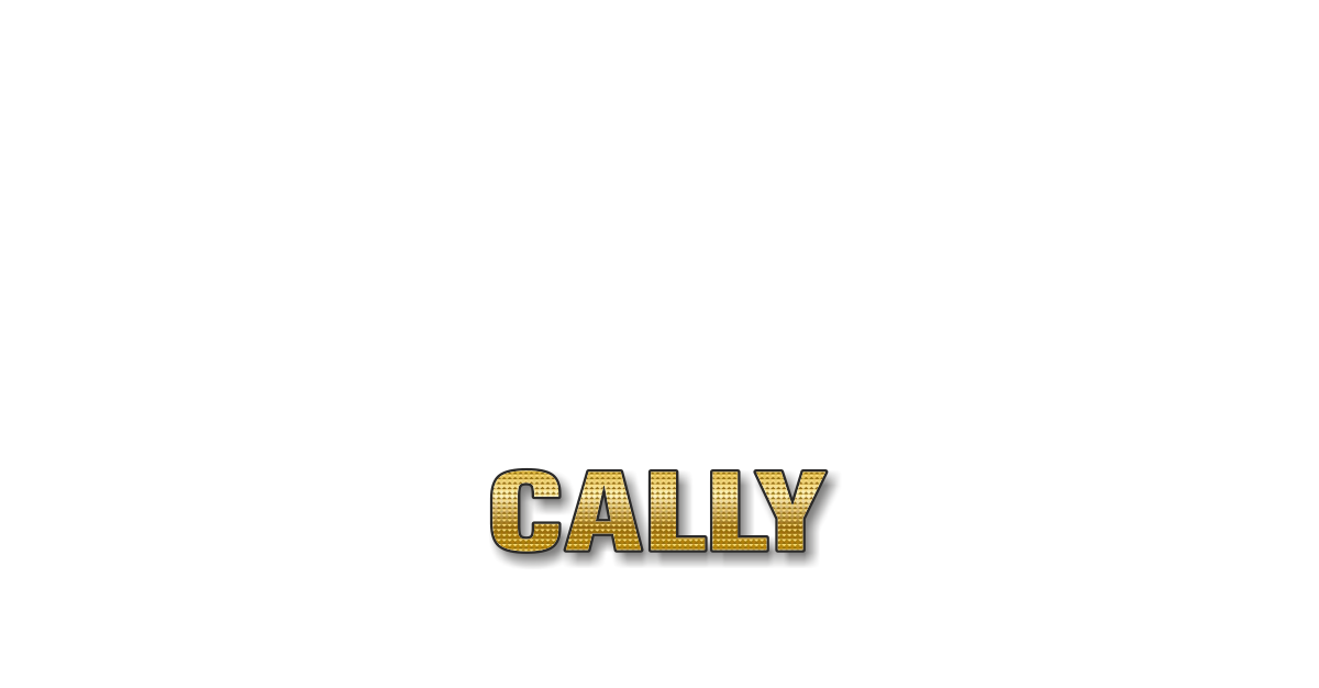 Happy Birthday Cally Personalized Card for celebrating