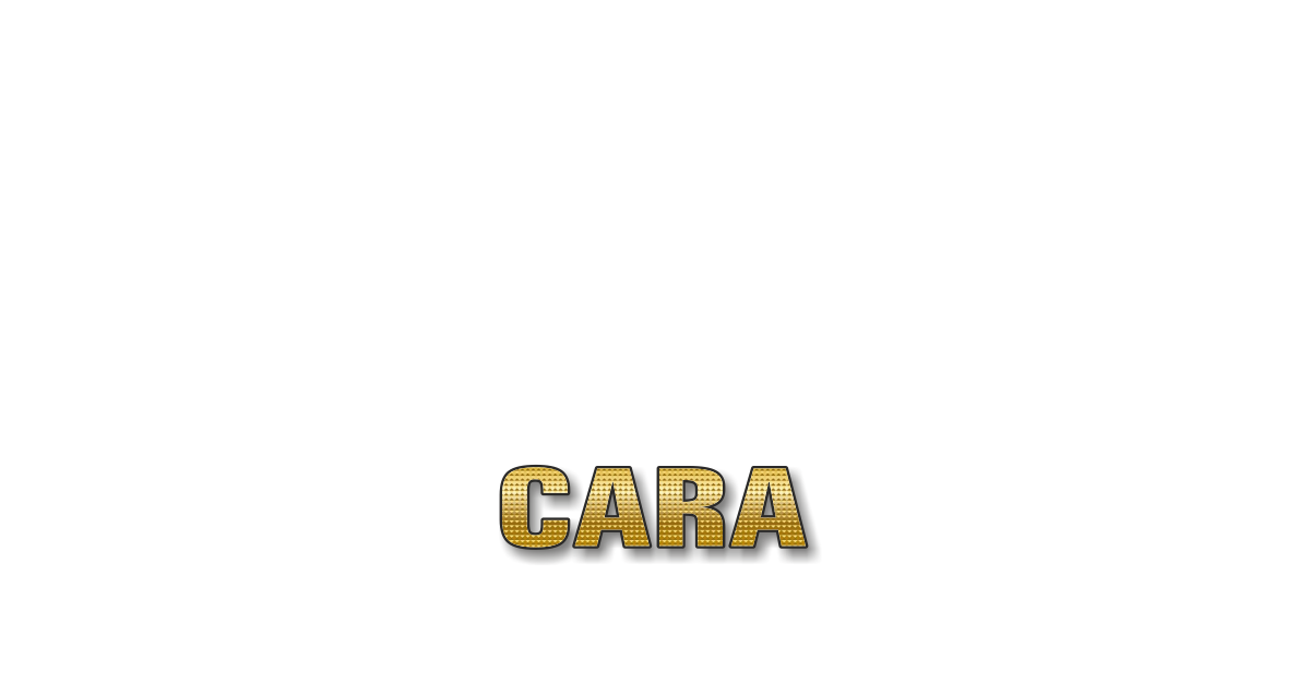 Happy Birthday Cara Personalized Card for celebrating
