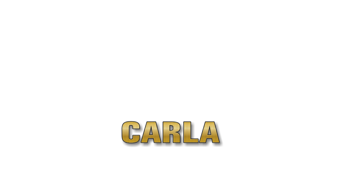 Happy Birthday Carla Personalized Card for celebrating