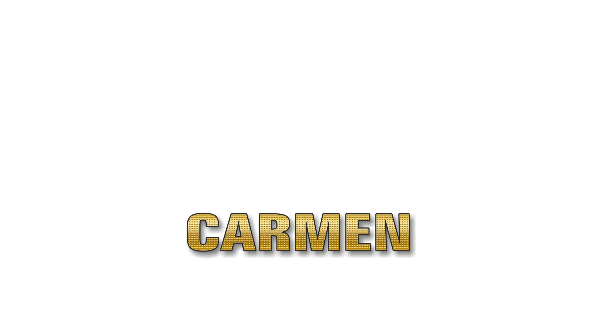 Happy Birthday Carmen Personalized Card for celebrating