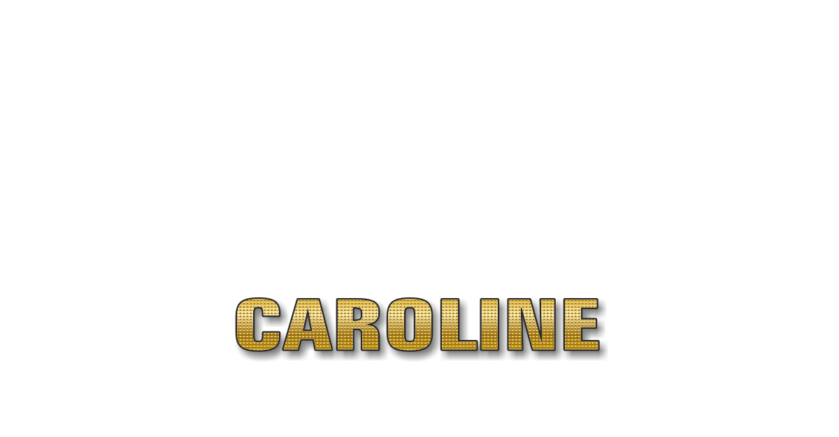 Happy Birthday Caroline Personalized Card for celebrating