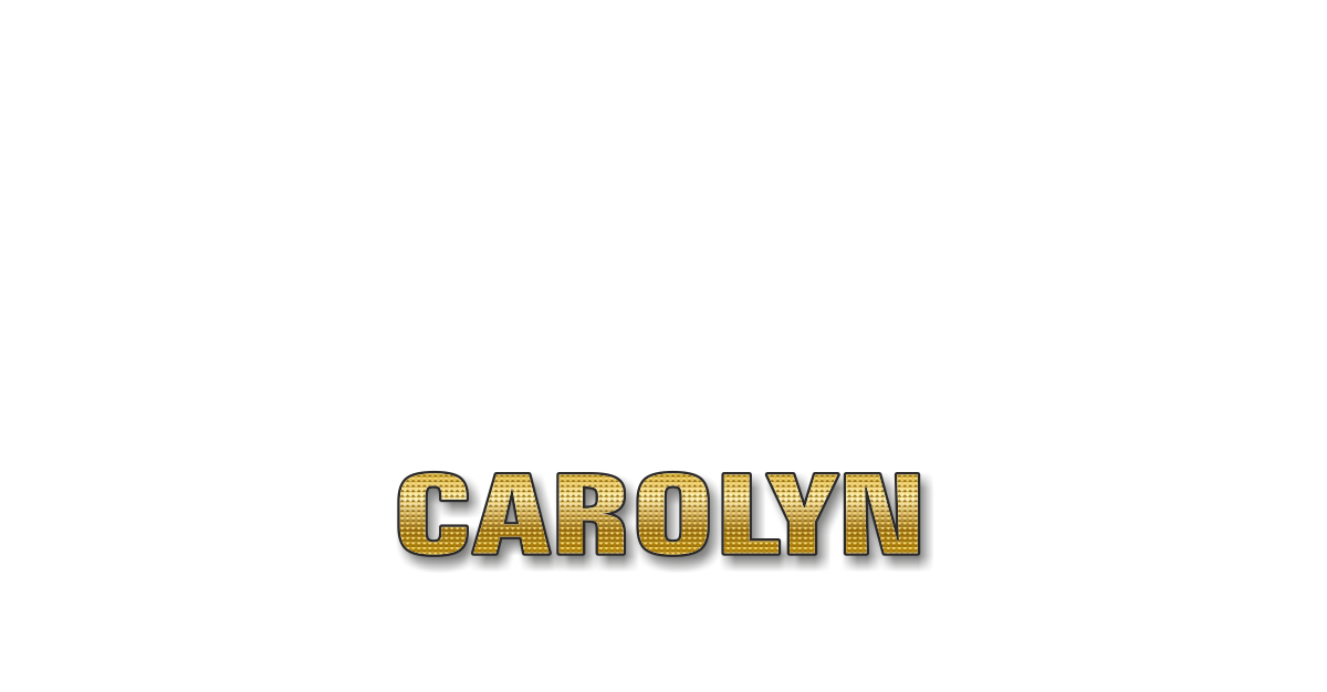 Happy Birthday Carolyn Personalized Card for celebrating