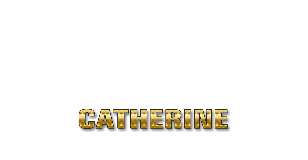 Happy Birthday Catherine Personalized Card for celebrating