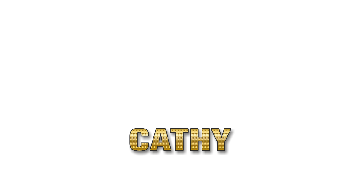 Happy Birthday Cathy Personalized Card for celebrating