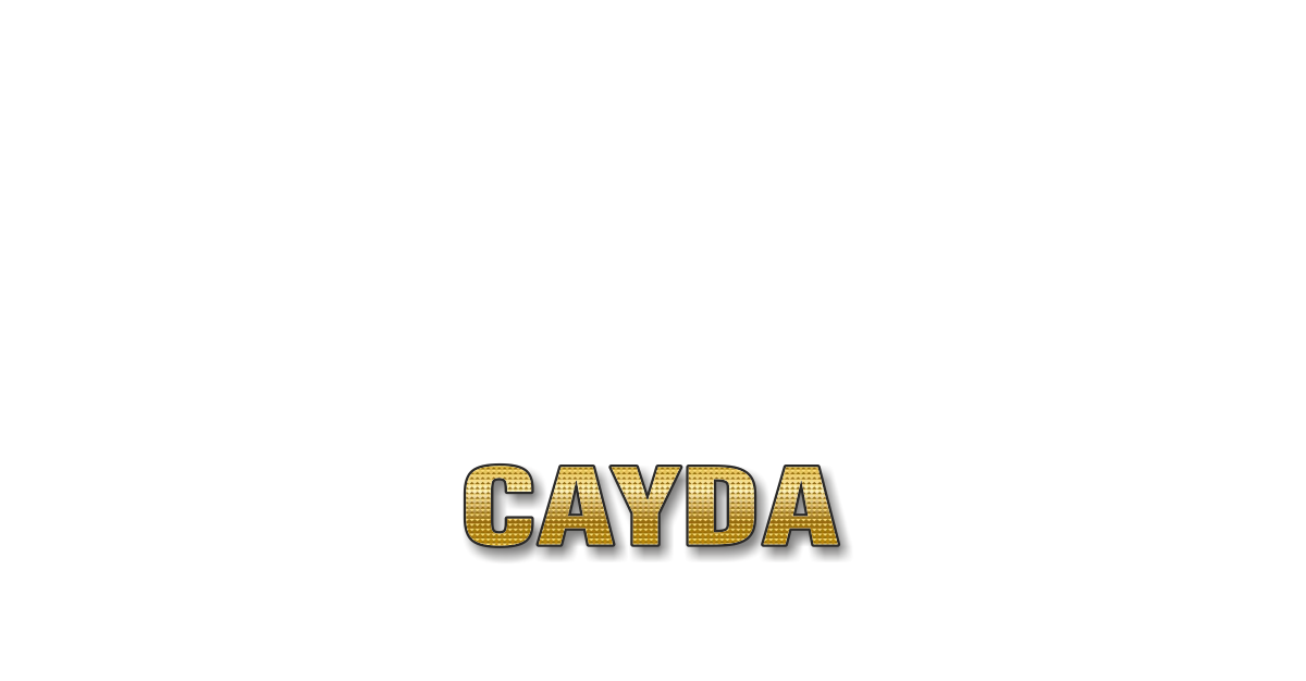 Happy Birthday Cayda Personalized Card for celebrating