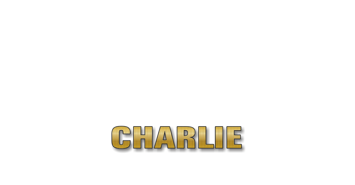 Happy Birthday Charlie Personalized Card for celebrating