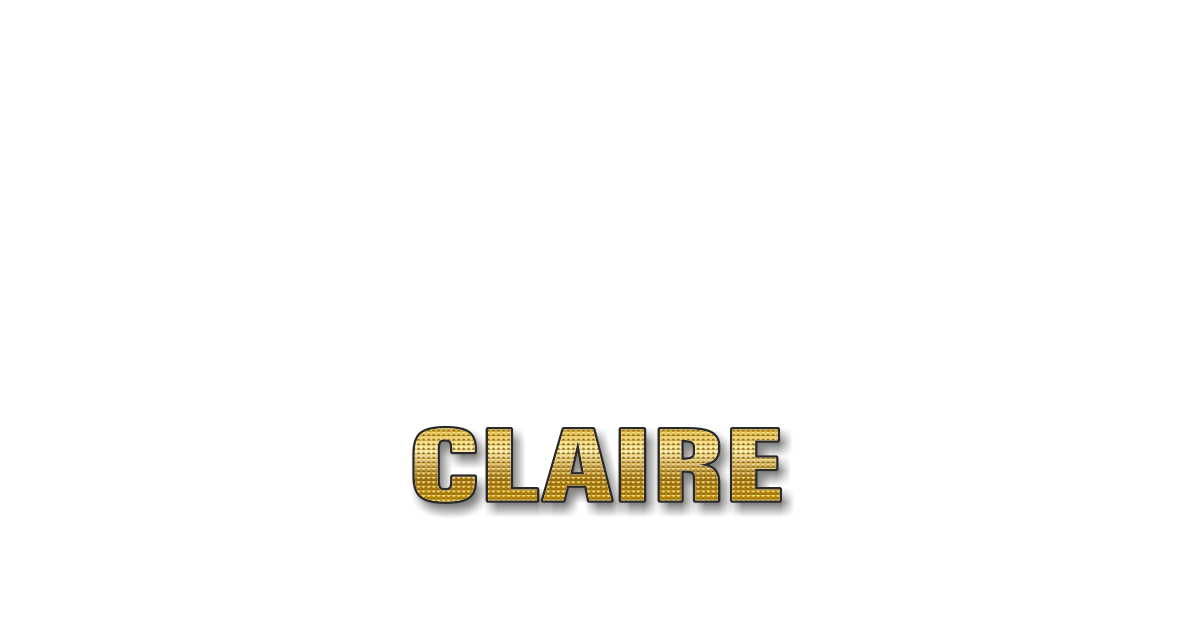Happy Birthday Claire Personalized Card for celebrating