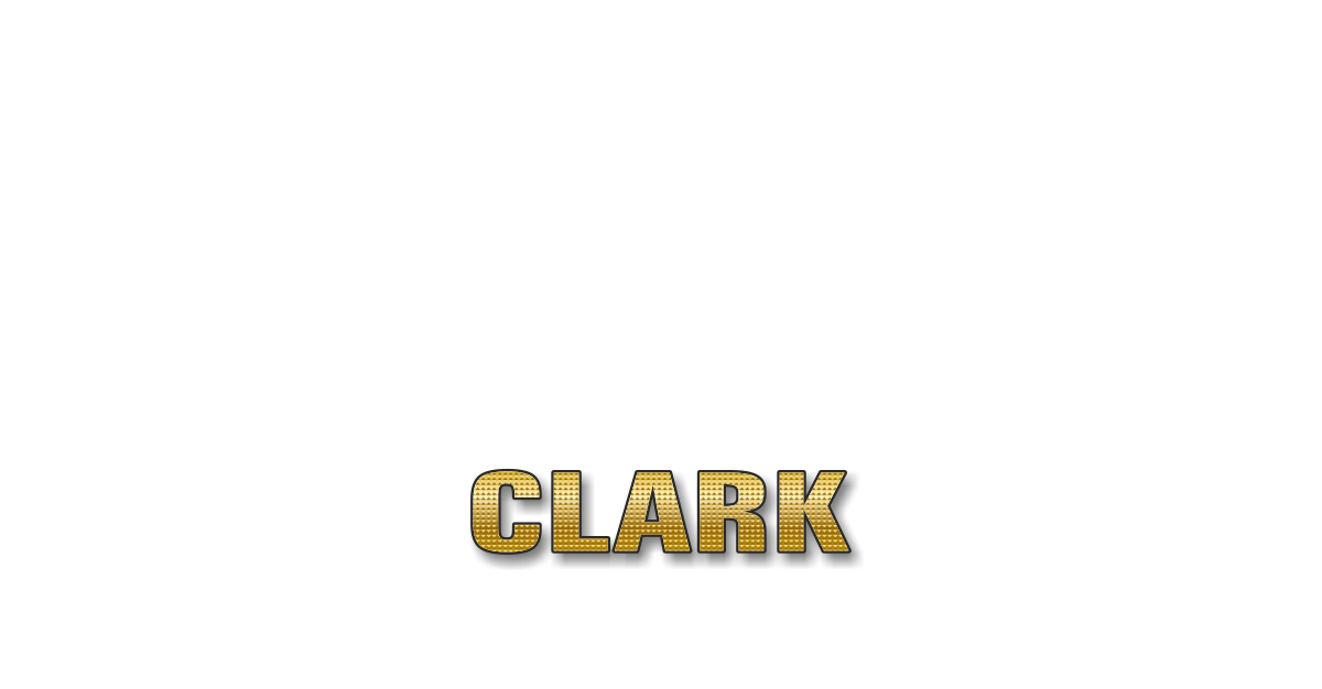 Happy Birthday Clark Personalized Card for celebrating