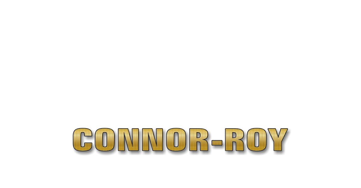 Happy Birthday Connor Roy Personalized Card for celebrating
