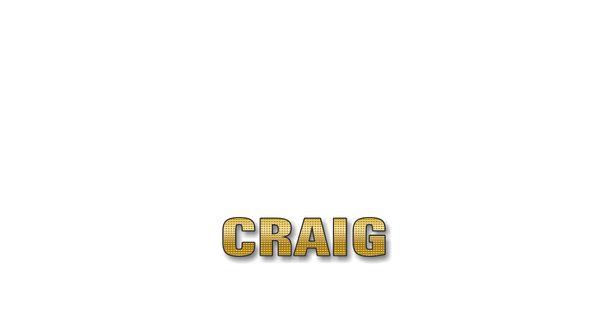 Happy Birthday Craig Personalized Card for celebrating