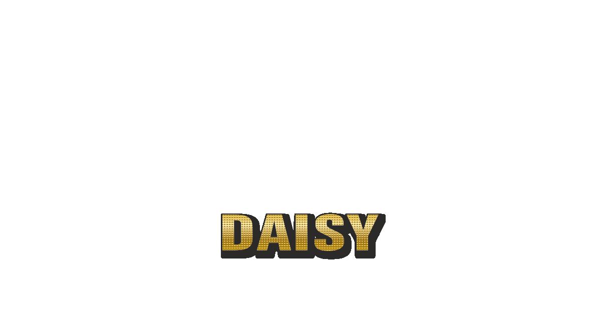 Happy Birthday Daisy Personalized Card for celebrating