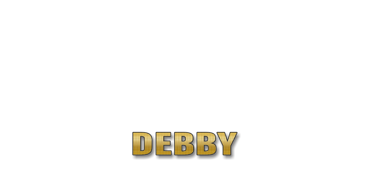 Happy Birthday Debby Personalized Card for celebrating