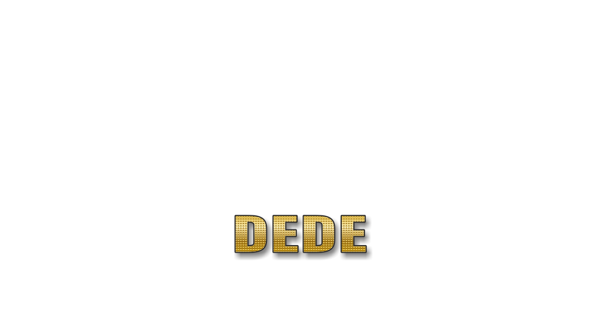 Happy Birthday Dede Personalized Card for celebrating