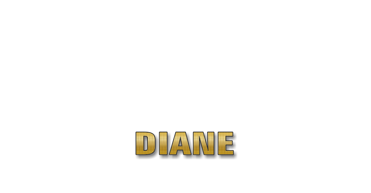 Happy Birthday Diane Personalized Card for celebrating